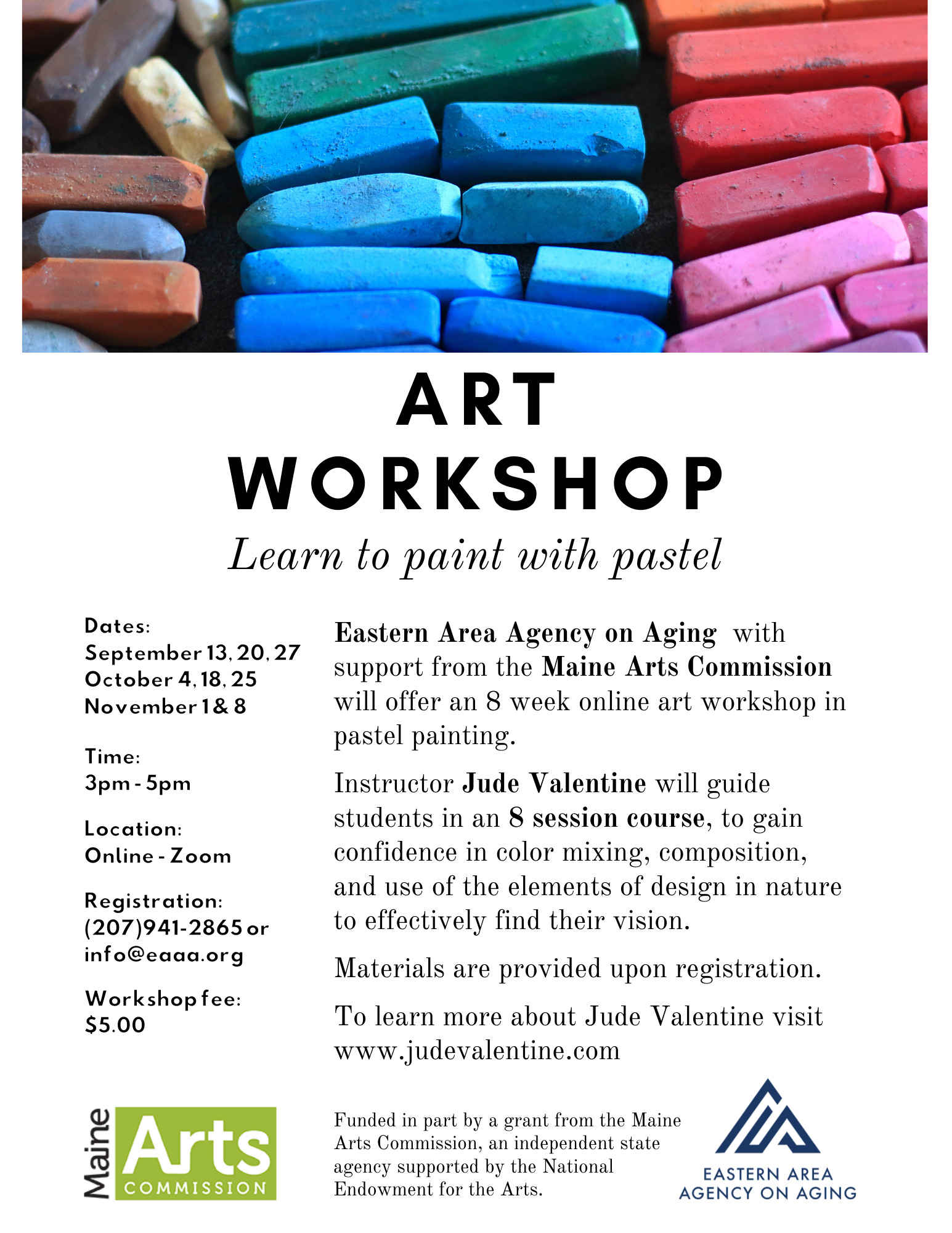 Art Workshop: Learn to paint with pastel @ Remote Delivery - Zoom Class